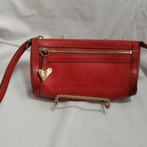 A9 309 Cole Haan Red Leather Wristlet